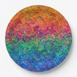 Paper Plate Fluid Colors