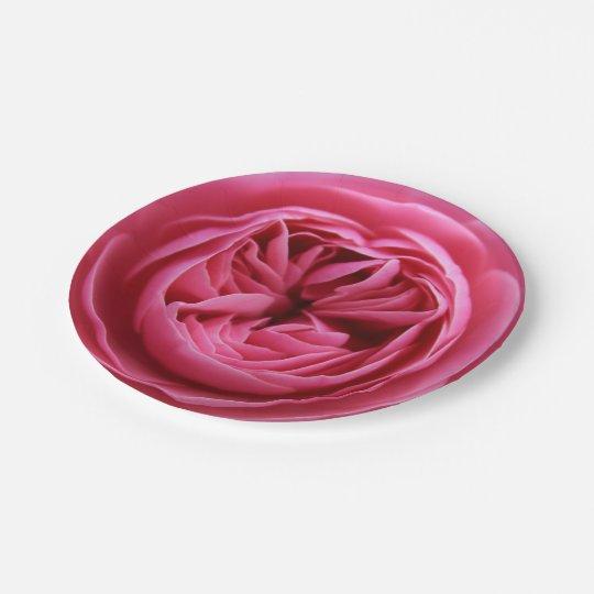 Paper plate of 17.8 cm Macro Pink