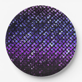 Paper Plate Purple Crystal Bling Strass