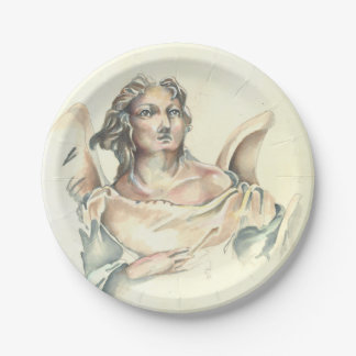 Paper plate with 'Classic Angel' by Cheryl Lee 7 Inch Paper Plate