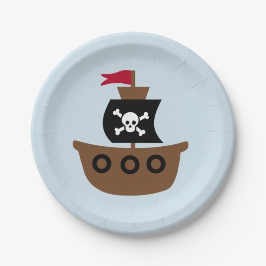 Paper plate with pirate ship