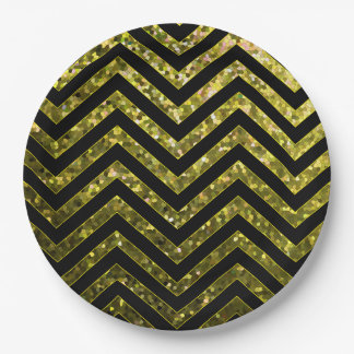 Paper Plate Zig Zag Sparkley Texture