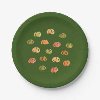 Paper plates 7'' with pumpkins 7 inch paper plate