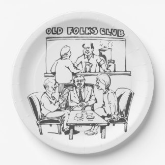 Paper plates for the elderly - Street scene Plate