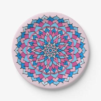 Paper Plates Pink and Blue Mandala