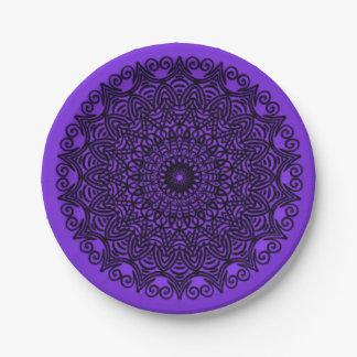 Paper Plates Purple Mandala Design