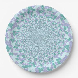 Paper Plates - Water Dazzle Design 9 Inch Paper Plate
