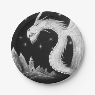 Paper Plates with Dragon at Night
