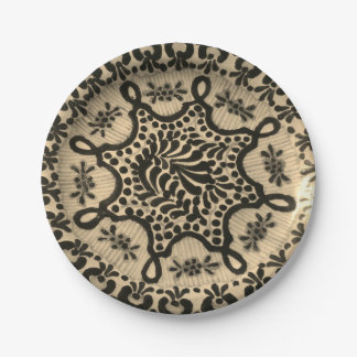 Paper Plates with Vintage Antique Pottery Image 7 Inch Paper Plate