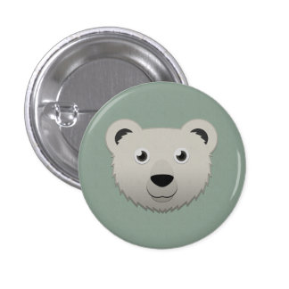 Paper Polar Bear Buttons