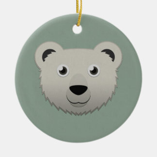 Paper Polar Bear Christmas Ornament