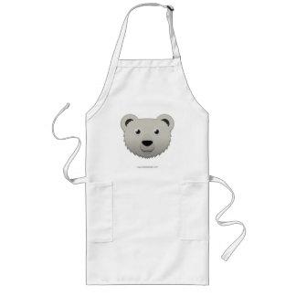 Paper Polar Bear Long Apron