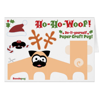 Paper Pug Holiday Card