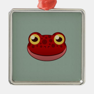Paper Red Frog Christmas Ornament