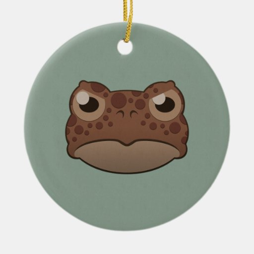 Paper Red Toad Christmas Ornaments