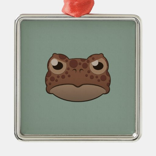 Paper Red Toad Christmas Ornament