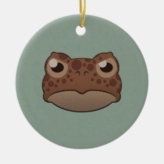 Paper Red Toad Round Ceramic Decoration