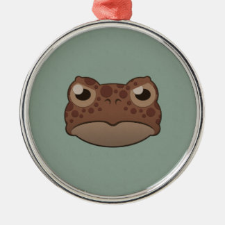 Paper Red Toad Silver-Colored Round Decoration