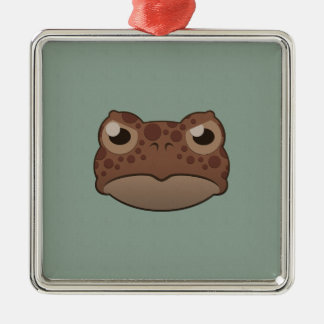 Paper Red Toad Silver-Colored Square Decoration