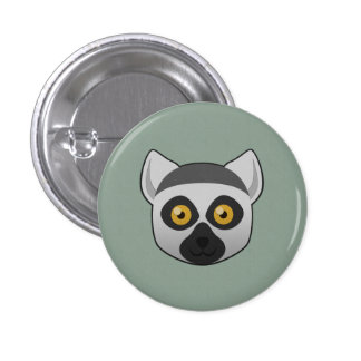 Paper Ring-Tailed Lemur Buttons
