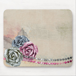 Paper Roses Mouse Mat