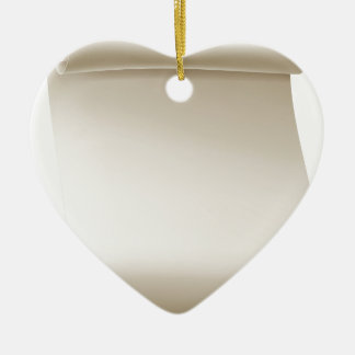 Paper Scroll Background Ceramic Heart Decoration