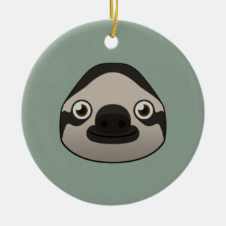 Paper Sloth Christmas Ornament