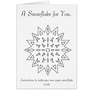 Paper Snowflake Ornament Greeting Card