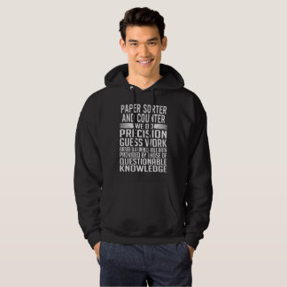 PAPER SORTER AND COUNTER HOODIE