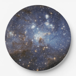 Paper Space Plates - galaxy 9 Inch Paper Plate