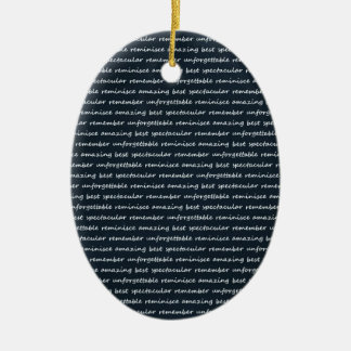 paper-spec NAVYBLUE TYPOGRAPHY MOTIVATIONAL SAYING Christmas Tree Ornaments