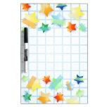Paper stars, board Dry-Erase board
