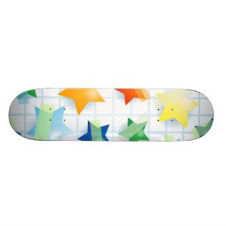 Paper stars, skate skate boards