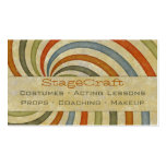 Paper Swirl Retro Double-Sided Standard Business Cards (Pack Of 100)