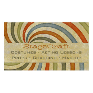 Paper Swirl Retro Pack Of Standard Business Cards