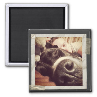Paper Taped Frame Old Instagram Photo Square Magnet