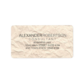 Paper Texture | Minimalist Modern Grey Tone Name Label