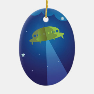 Paper theater - UFO Christmas Ornament