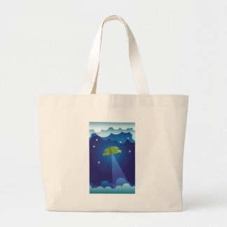 Paper theater - UFO Large Tote Bag