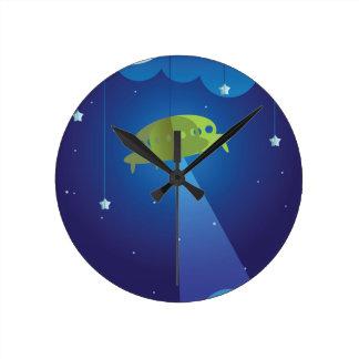 Paper theater - UFO Round Clock