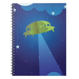 Paper theater - UFO Spiral Notebook