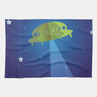 Paper theater - UFO Tea Towel