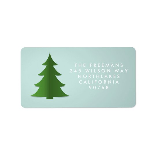 Paper Tree Holiday Address Label
