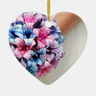 Paper Wedding Bouquet Ceramic Heart Decoration