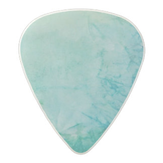 Paper With Blue, Green, And Black Paint Abstract Acetal Guitar Pick