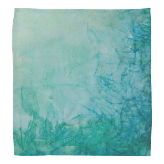 Paper With Blue, Green, And Black Paint Abstract Bandana