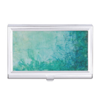 Paper With Blue, Green, And Black Paint Abstract Business Card Holder