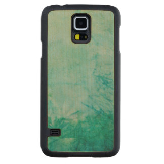 Paper With Blue, Green, And Black Paint Abstract Carved Maple Galaxy S5 Case