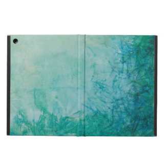 Paper With Blue, Green, And Black Paint Abstract Case For iPad Air
