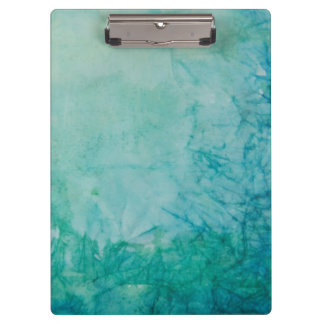 Paper With Blue, Green, And Black Paint Abstract Clipboard